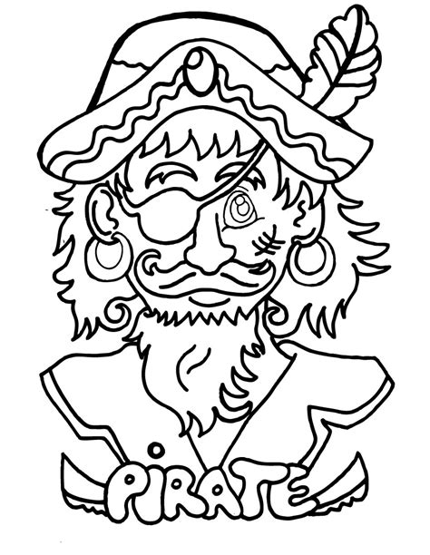 Free Color Pages free printable pirate coloring pages for