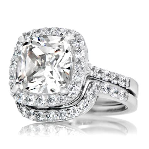 Halo Wedding Ring Sets For Her   Wedding Ideas
