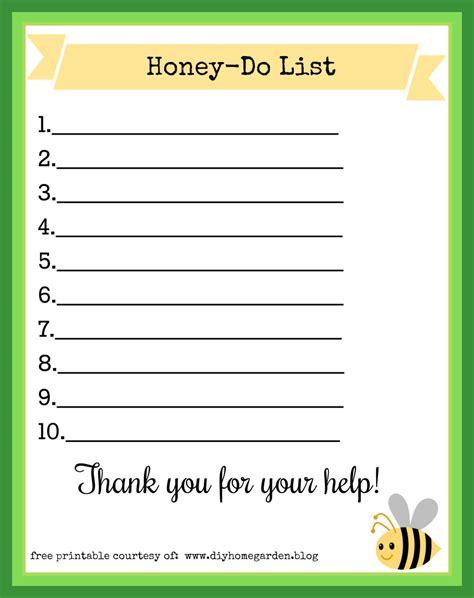 printable honey to do list free printable honey do list with bumblebee theme diy