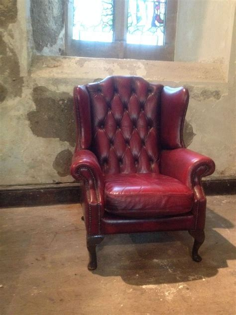 ebay chesterfield armchair vintage chesterfield armchair queen anne high back