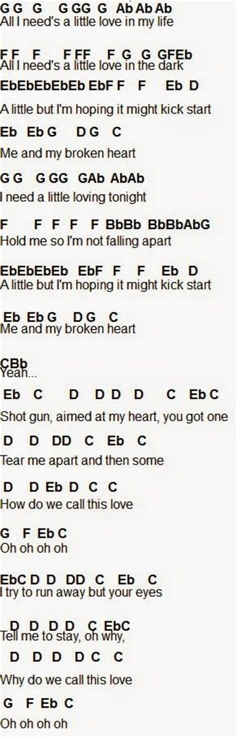 tattooed heart flute chords me and my broken heart flute part 1 flute sheet music