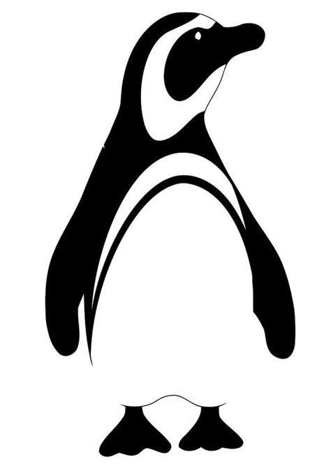 Kleurplaat pinguin - Afb 19620. Images