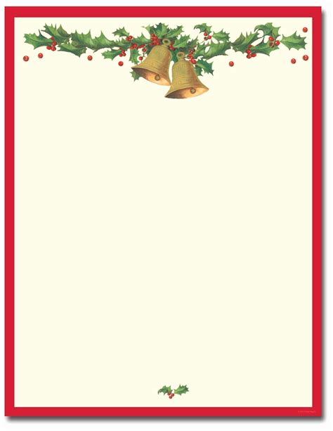 printable christmas stationary paper printable
