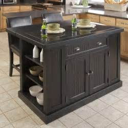 Black Kitchen Island Table Home Styles Nantucket Kitchen Island Black Kitchen Islands And Carts At Hayneedle