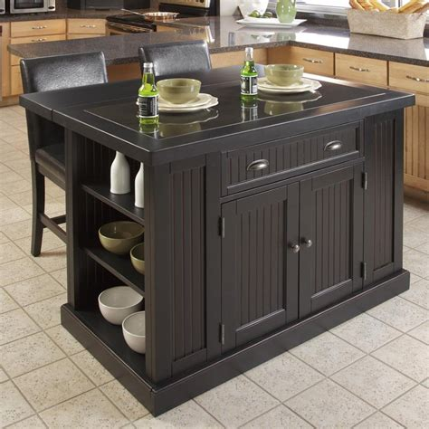 home styles nantucket kitchen island black kitchen