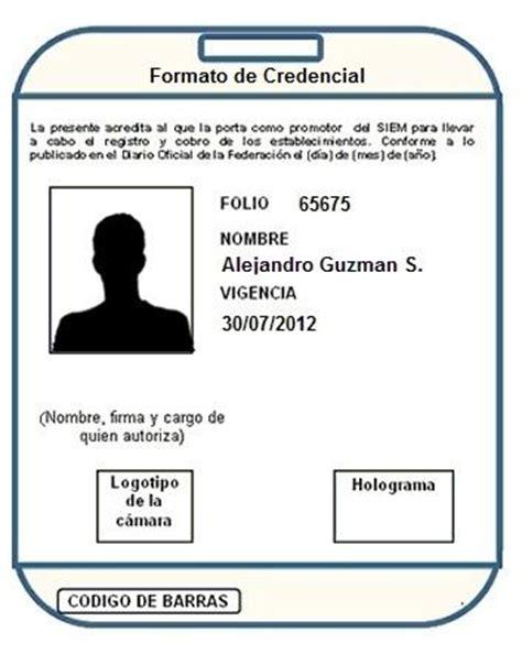 Formato Para Credenciales De Trabajo | formato de credencial
