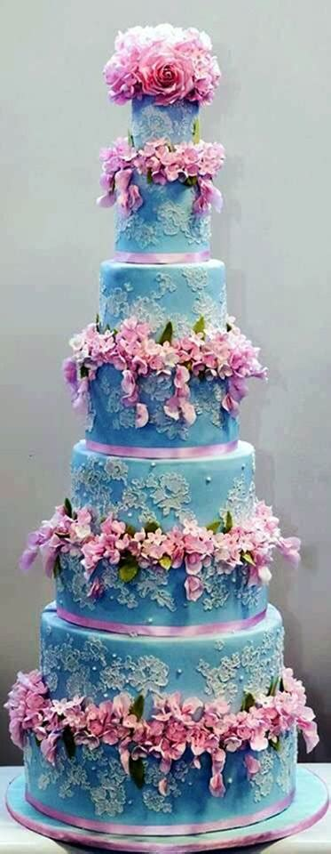 Delicious Blue Pink Tower Articles Easy Weddings