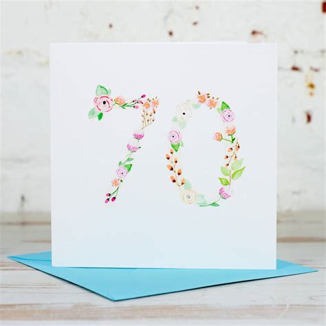 What To Write On 70th Birthday Card 70th Birthday Card By Yellowstone Art Boutique