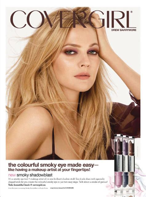 Drew Barrymore Covergirl by Drew Barrymore For Covergirl Ad Caign Fashion Ads