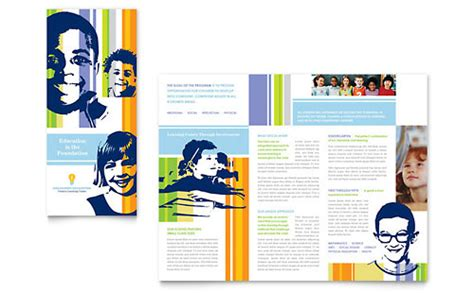 educational brochure templates education brochures templates designs