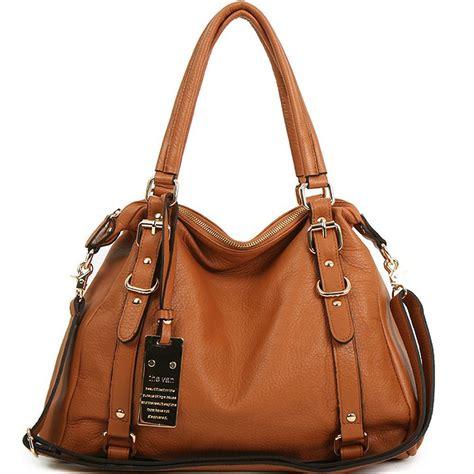Handmade Leather Purses And Bags - new leather handbag shoulder bag brown black hobo