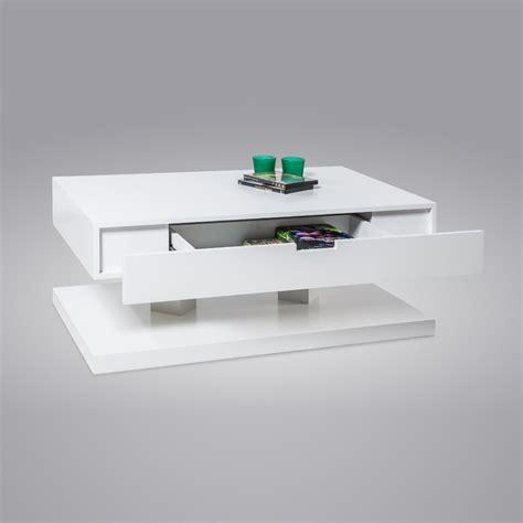 table basse laque blanc avec tiroir ezooq