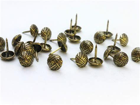 brass upholstery studs 100 x decorative upholstery nails studs tacks brass