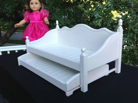 american girl doll trundle bed american girl doll furniture daybed with trundle white