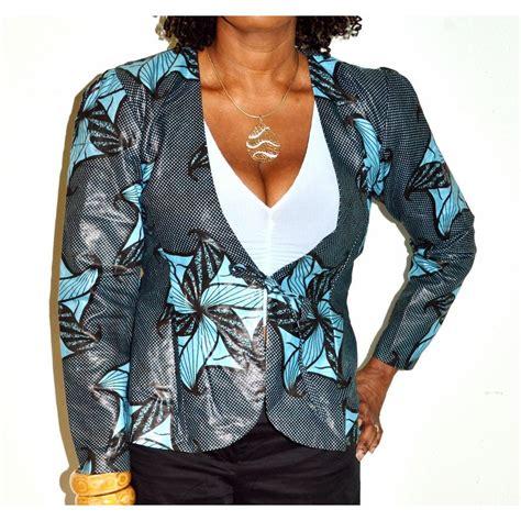 naija female ankara jackets ankara african wax print blazer handmade jacket black
