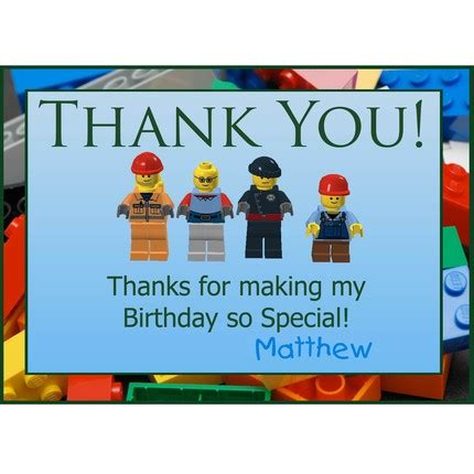 printable lego birthday thank you cards 4 best images of printable lego thank you cards free