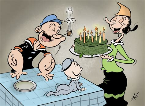 Happy Birthday Popeye by Caricatures Comics And Illustrations