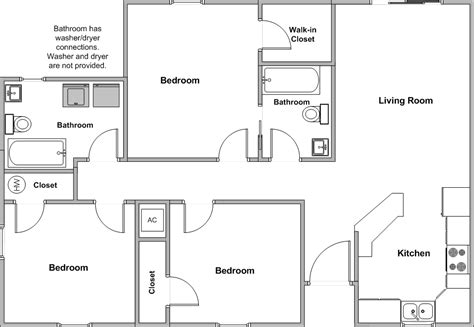 3 Bedroom Floor Plans Simple 3 Bedroom House Floor Plans