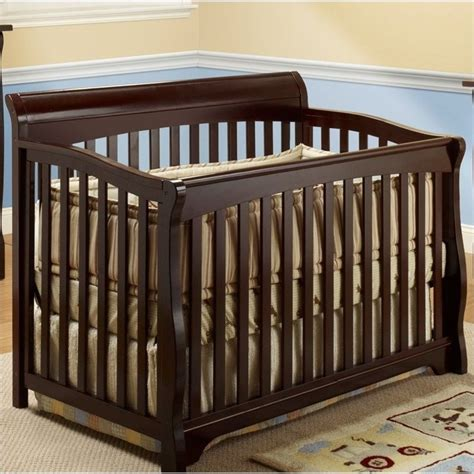 Sorelle Florence 4 In 1 Crib With Mini Rail In Espresso Espresso Mini Crib