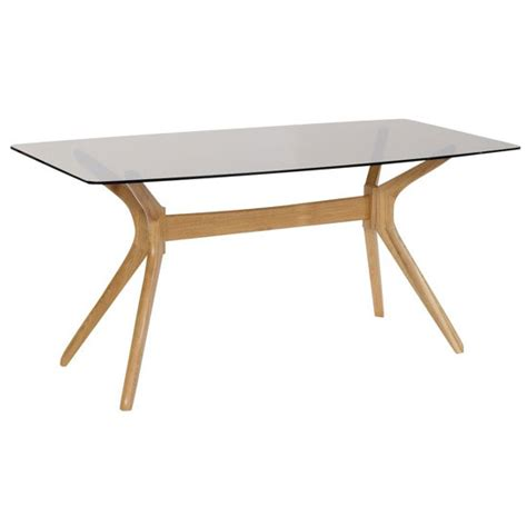 Patio Solid Oak Finish Tinted Glass Top Dining Table Only 22 Glass Top Patio Dining Table