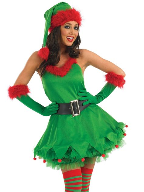 adult ladies christmas elf costume fs3163 fancy dress ball