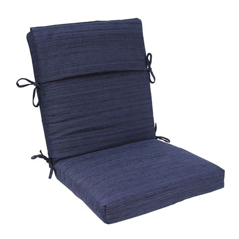 high back patio chair cushions shop allen roth navy texture high back patio chair cushion for high back chair at lowes