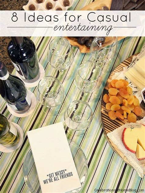 dinner party entertainment ideas 8 ideas for casual entertaining dinner napkins to share