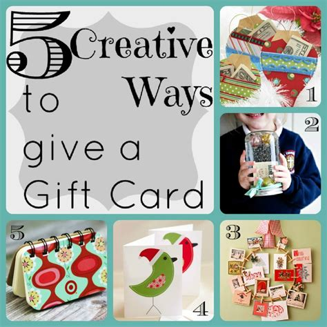 Creative Ways To Give Gift Cards - 5 creative ways to give a gift card sl pinterest
