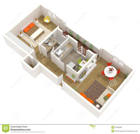 3d floor plans free apartment interior design 3d floor plan royalty free stock images image 18595989