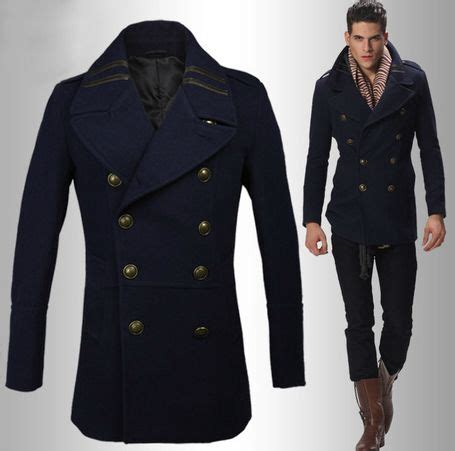 Pea Cost Pea Coat Style And Navy Blue On