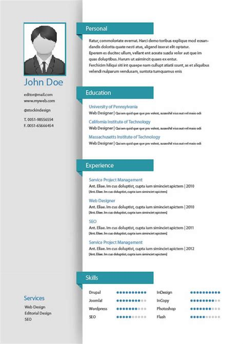 Plantillas De Curriculum Vitae Indesign Curriculum Con Indesign Forocoches