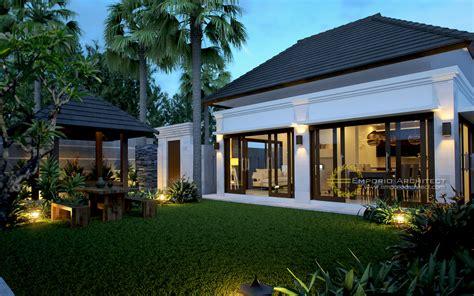 desain rumah resort modern jasa arsitek desain villa bapak hendra canggu badung bali