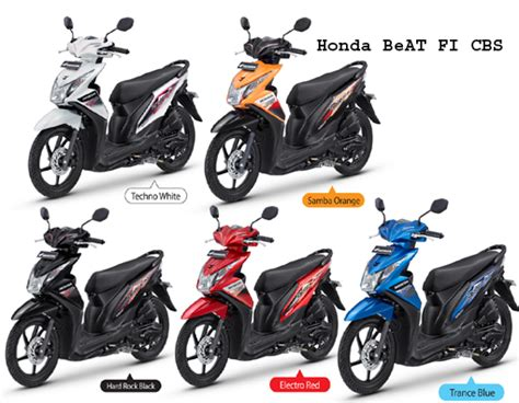 Blue Beat Pgm Fi 2013 by Spesifikasi Honda Beat Fi Indonesia Motorcycle