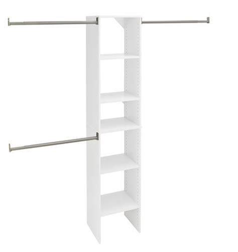 Closetmaid 16 Inch Closetmaid Suitesymphony 16 Inch White Closet Tower Kit