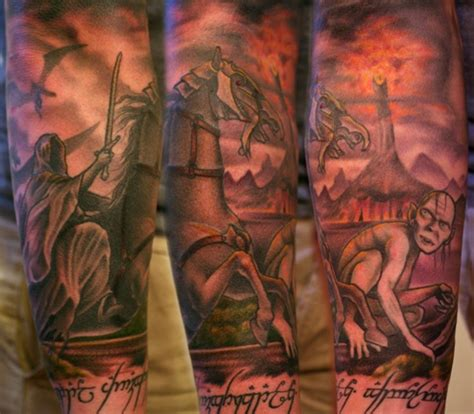 mordor tattoo mordor ink middle earth sleeves mordor the land of