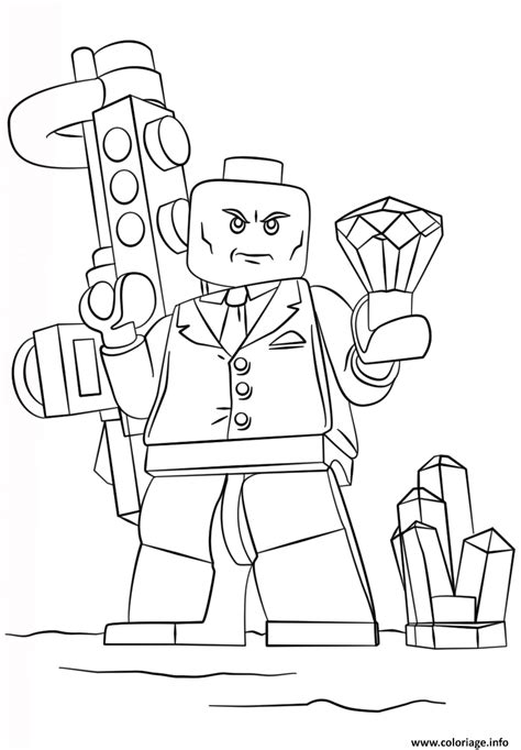 Coloriage lego lex super heroes - JeColorie.com
