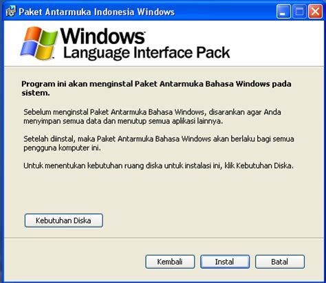 instalation windows xp bahasa indonesia youtube instalasi paket antarmuka bahasa indonesia untuk windows