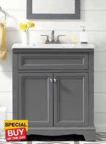 Gray Vanity by 30 Park Grey Vanity Bathroom Ideas