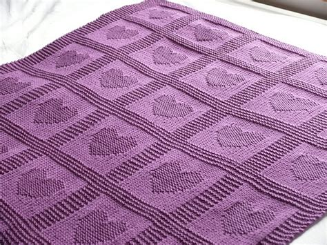 Heart Pattern Baby Blanket | free pattern heart baby blanket like the heart and star