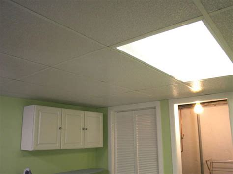 Installing A Drop Ceiling In A Basement Laundry Hgtv Drop Ceiling Lighting Options