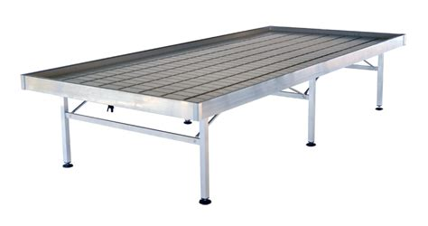 ebb and flow benches aluminium fixed low cost bench 1225 x 2530 mm 10 pieces