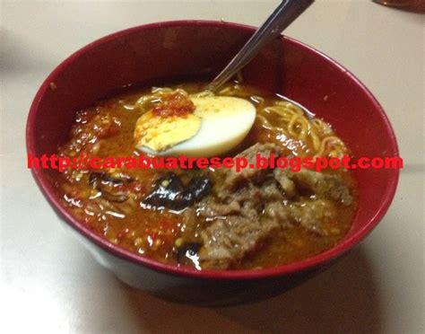 membuat mie ramen pedas halal resep masakan indonesia