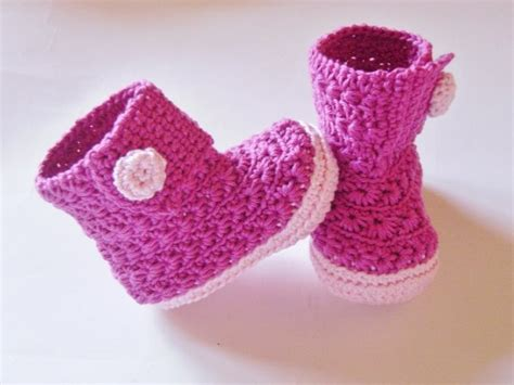 Kostenlose Häkeln Baby Booties Muster herunterladen