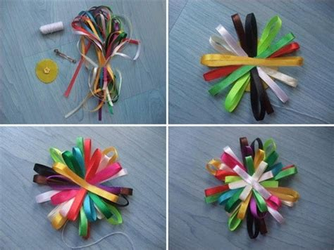 ribbon craft projects ribbon crafts for of rainbow hair clip 183 how to make