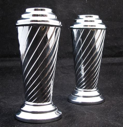 Chrome Vase by Pair Of Chrome Deco Vases Circa 1930 Sold On