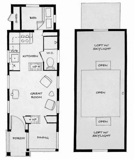 free tiny house plans 8 x 20 free tiny house plans tiny 8x20 tiny house on wheels plans house floor plans
