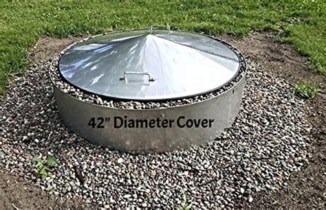 steel pit cover large stainless steel metal pit cover cfire ring