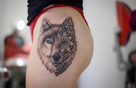 wolf tattoos tumblr wolf mandala