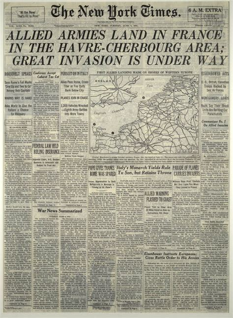 new york times health section 67 years ago d day