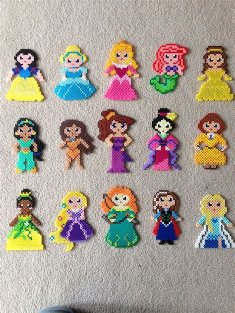 disney perler disney princess perler great with magnets on the back for